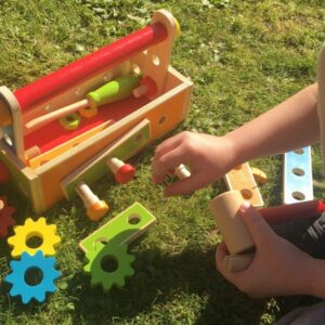 Tool Construction Set with 36 Wooden Toy Tools - Jumini Toys